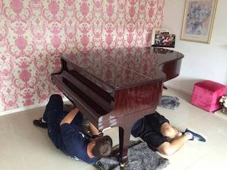 grand piano move in Evesham